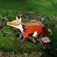 Fox Paper Toy.