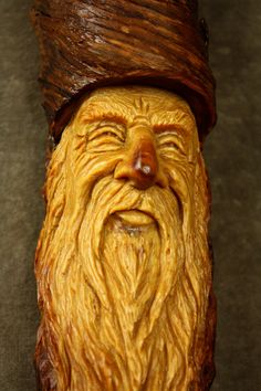 Ooak Wood Carving of a Wood Spirit Elf by TreeWizWoodCarvings, $96.00