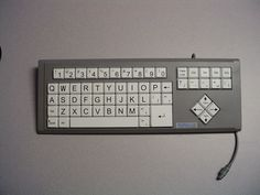 Alternative Keyboards can be used for those with learning disabilities or physical disabilities. Keyboards can be altered to make the keys bigger and simpler