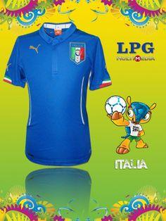 Camiseta de la selección de Italia en el mundial #Brasil2014