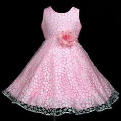 Pink Pink pip791 Communion Bridesmaid Party Flower Girls Dress Gift 2-3y sz-30