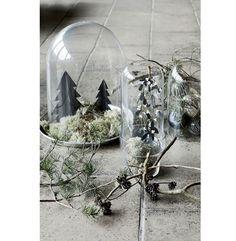 Vianočná dekorácia v podobe krajinky vytvorenej z ... | DOMA.SK Design Shop, European Fashion, European Style, House Doctor, Cubism, Terrarium, Pop Art, Glass Vase, Interior