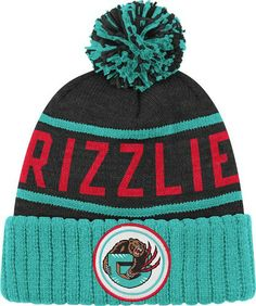 Vancouver Grizzlies Mitchell & Ness NBA High 5 Cuffed Premium Knit Hat - Black