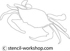 crab stencils   We made many variety of Crab stencil, if you require more crab stencil ...
