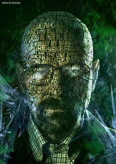 Breaking Bad - Walter White -Typographic Art by Rafael Boo, via Behance