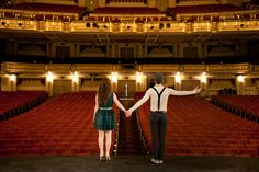 Engagement Shoot On Stage