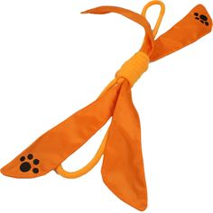 Extreme Bow' Squeek Pet Rope Toy- Orange