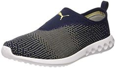33be7332893c Puma Men s Carson 2 Slip-On Peacoat and Pebble Running Shoes-6.5 UK