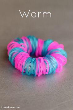 Rainbow Loom® Worm Armband - http://www.rainbow-loom.nl/rainbow-loom-videos-voorbeelden/rainbow-loom-worm-armband/