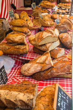 Bread at a Paris Market ~ France