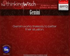 Thinking Witch Gemini Fact for today