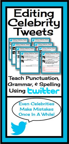 This resource allows students to edit grammar, spelling, and punctuation in a… 4th Grade Writing, Middle School Writing, Writing Classes, Middle School English, Middle School Classroom, English Classroom, Grammar Activities, Teaching Grammar, Teaching Language Arts