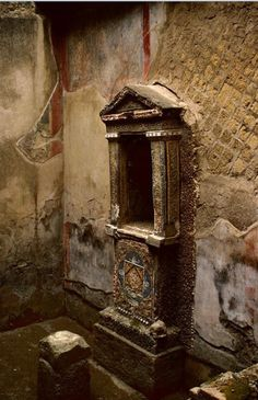 House of the Skeleton, fountain. Location: Herculaneum, Italy