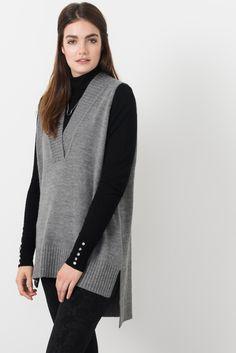 f238ee0bfd6 Suzy Shier Sleeveless Tunic Sweater