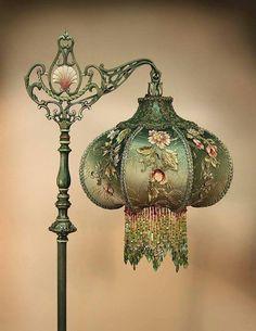 gorgeous green lamp
