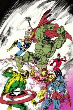 #Avengers #Fan #Art. (Avengers #24) By: Mike Deodato. (THE * 5 * STÅR * ÅWARD * OF: * AW YEAH, IT'S MAJOR ÅWESOMENESS!!!™) ÅÅÅ+