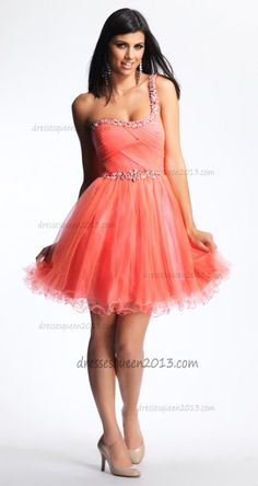 9cab7236db A-Line Tulle Mini Short Glittery Red Homecoming Dress  Tulle Mini Dress  -. Dresses  2013Junior ...