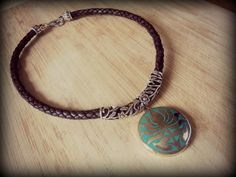 Tribal Silver and Turquoise Lotus Pendant by sweetfreedomshop