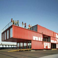 Cargo container on pinterest container houses shipping for Shipping container pier foundation