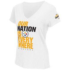 Shop the Official Steelers Pro Shop for Steelers Nation Unite (SNU) Women s  Slubbed V. Steeler NationPittsburgh SteelersT ShirtPenguinsV ... 91895ccb0
