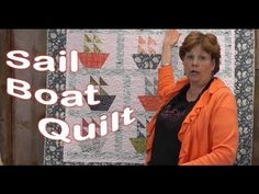 Oh how I love this new sailboat #quilt #tutorial from Jenny Doan!