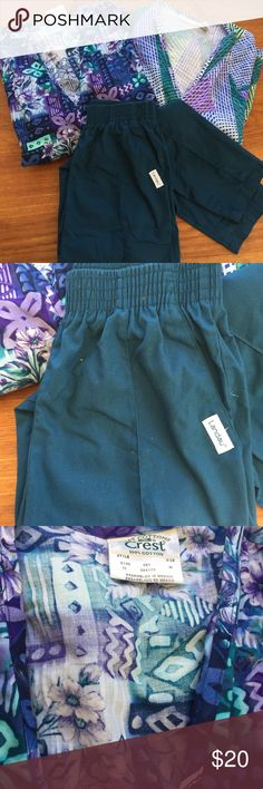 "3 Scrubs: 2 long sleeve top jackets 1 pants medium Great deal on 3 pieces to add to your scrubs wardrobe: 2 long sleeve top/jackets and 1 pair of pants -- all in complimentary colors.   They are checked for stains and tears. All labeled ""MEDIUM"" (M)  but I have not measured. All clean but they will need ironing. Easy and cost-efficient way to add color and variety to your uniform wardrobe.   Please don't hesitate to ask questions. 👉  sold as lot only.  SORRY but No individual pieces 👈…"