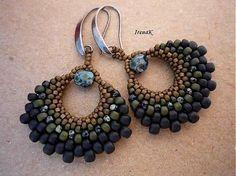 Seed Bead Crafts, Seed Bead Jewelry, Seed Bead Earrings, Beaded Earrings, Earrings Handmade, Beaded Jewelry, Handmade Jewelry, Bling Bling, Earring Tutorial
