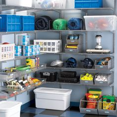 Yes, you can actually fit two cars in that two-car garage thanks to elfa. This Platinum elfa Garage Storage solution features plenty of Ventilated Shelves and Shelf Baskets to round up everything from sporting equipment and camping gear to paint cans and garden hoses with strength to spare.