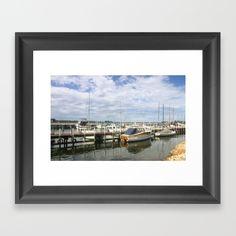Moored Boats Framed Art Print