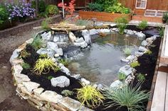 I like the raised pond. filling is always easier than digging!