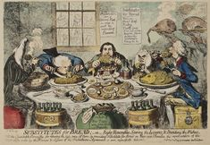 The Antiquarium - Antique Print & Map Gallery - James Gillray - Substitutes for Bread Hand-colored etching