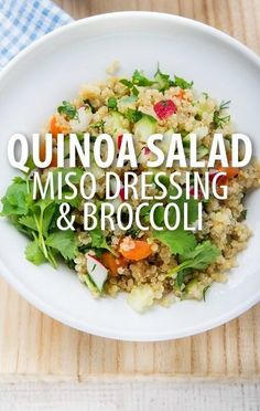 In addition to high fiber, protein, and beauty benefits, Quinoa can be a weight loss tool! Check out Dr Oz's Quinoa Miso Broccoli Salad recipe tonight. http://www.recapo.com/dr-oz/dr-oz-recipes/dr-oz-quinoa-miso-broccoli-salad-recipe-how-to-open-pistachios/