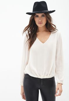 #SALE Beaded V-Cut Blouse | Shop the #SALE at #FOREVER21