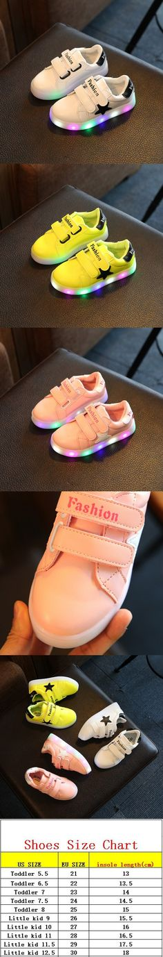 Kids Shoes With Light 2016 New Autumn Breathable Boys Fashion Sneakers Chaussure Led Enfant Sport Running Girls Shoes SIZE 21~30