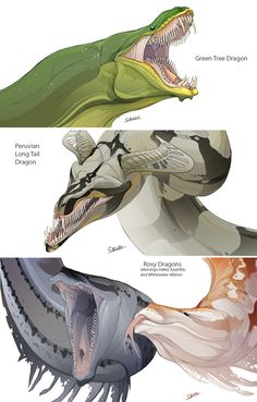 Snake Dragons by ~beastofoblivion on deviantART