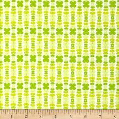 Art Gallery Color Me Retro Kitchenette Apple from @fabricdotcom  Designed by Jeni Baker for Art Gallery Fabrics, this cotton print is perfect for quilting, apparel and home decor accents.  Colors include white, shades of yellow and shades of green.  Art Gallery Fabric features 200 thread count of finely woven cotton.