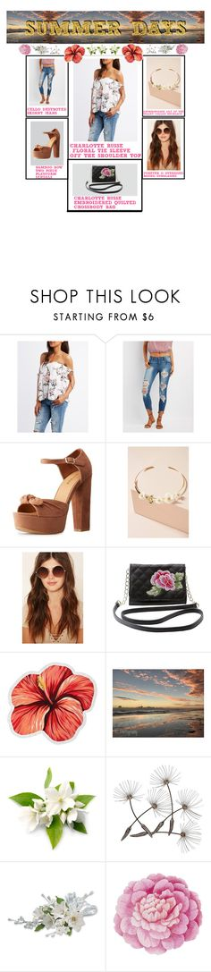 """Summer Days Outfit"" by polyvoreclothesz15 ❤ liked on Polyvore featuring Charlotte Russe, Cello, Anthropologie, Forever 21, LaMont and Ballard Designs"