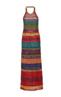 Tulum Halter Dress by SPENCER VLADIMIR Now Available on Moda Operandi