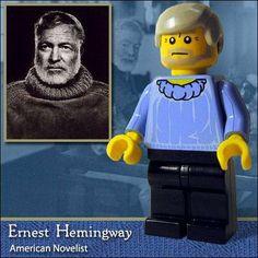 Ernest Hemingway de Lego.