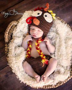 Crochet Turkey Hat Set by SweetSistersCrochets on Etsy, $25.00 #craftjunkies