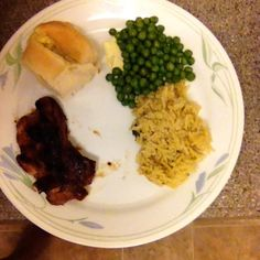 Dinner from last night. Brown sugar boneless chops. Very tasty. Husband wants me to make it again lol.