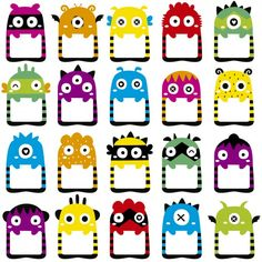 Monster Frames Digital Clip Art ED Instant by LocklessCreations Class Dojo, Monster Theme Classroom, Classroom Themes, Monster 1st Birthdays, Monster Crafts, School Frame, School Labels, Cute Frames, Image Clipart