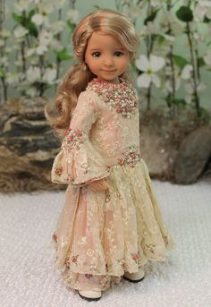 Dianna Effner Little Darling Painted by Joyce Mathews and Outfit by Magalie Houle Dawson