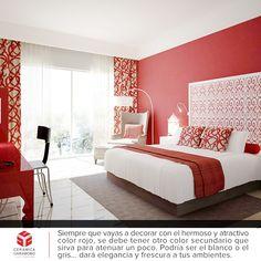 El color #rojo en la #decoración