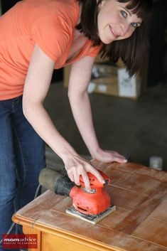 How to Prep and Spray Paint Furniture (with a sinister look on your face). Great helpful hints for a nice finish!