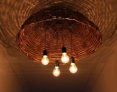 luminária de cestos