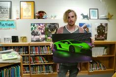 """""""Fact: Libraries will forever have posters of Lamborghinis."""" - Dallas Clayton"""