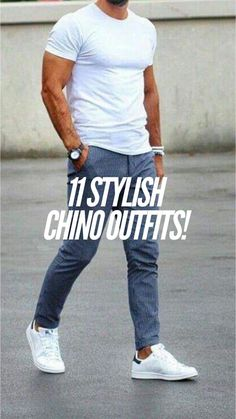 11 Stylish chino outifts for the summer! – Mr Streetwear Magazine – Lars 11 Stylish chino outifts for the summer! Streetwear Magazine, Chinos Men Outfit, Trendy Summer Outfits, Casual Outfits, Converse Outfits, Man Dressing Style, Magazine Mode, Cowboy Outfits, Herren Outfit