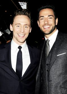 Tom Hiddleston and Zachary Levi. You are welcome. Add Billy Currington to this group and we have perfection.