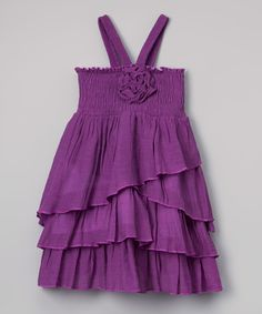 Lele for Kids Purple Tiered Halter Dress - Toddler & Girls by Lele for Kids #zulily #zulilyfinds